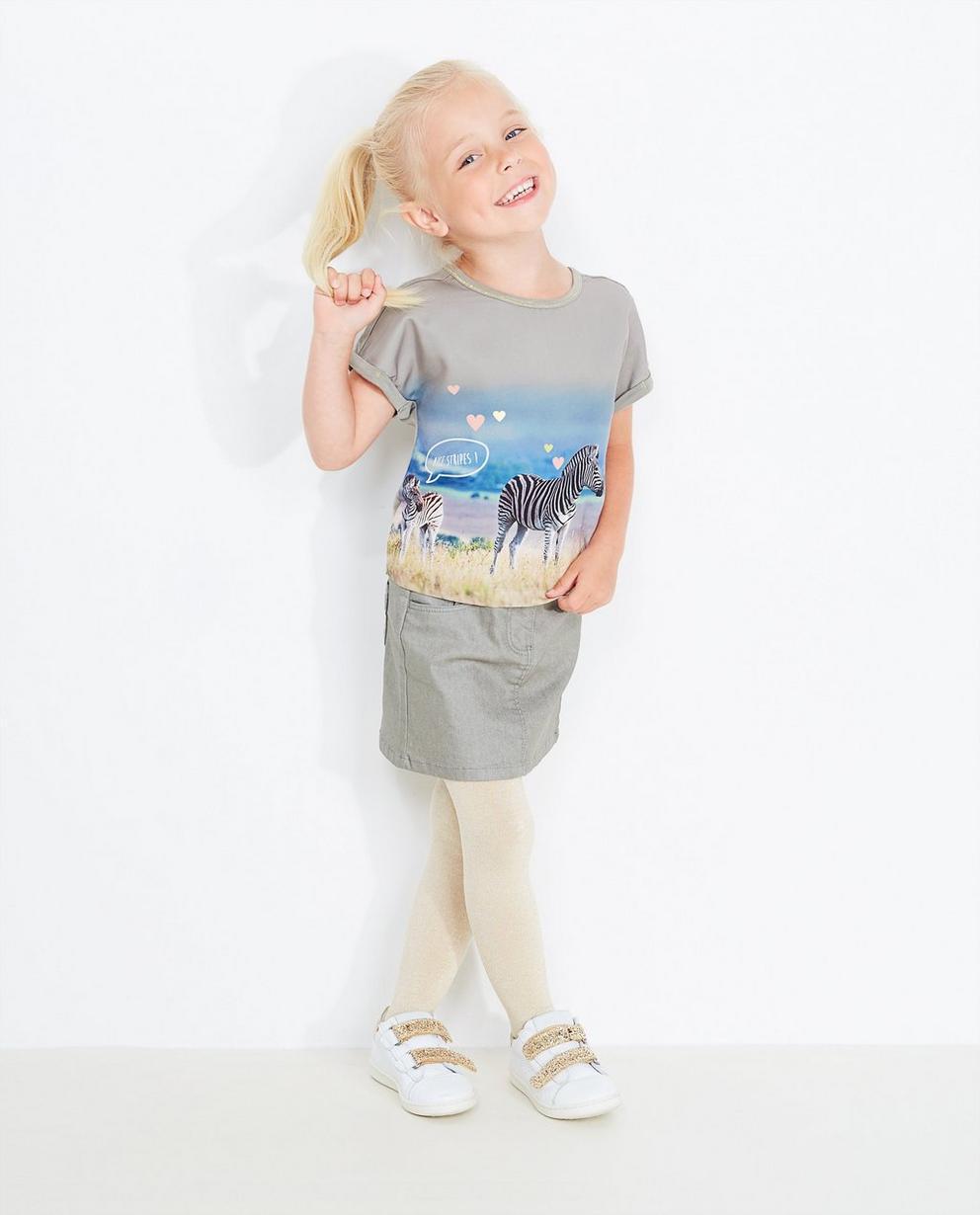 T-Shirt mit Fotoprint - in Khaki - JBC